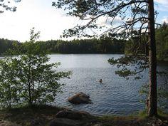 The beach of Southern Myllyjärvi (Espoo, Finland).
