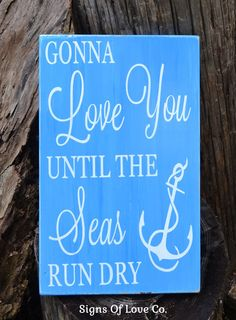Beach Wedding Sign Nautical Nursery Wall Décor Anchor Wedding Decorations Tiffany Blue Turquoise Duck Egg Powder Navy Blue Customize Colors Wood Plaque Hand Painted
