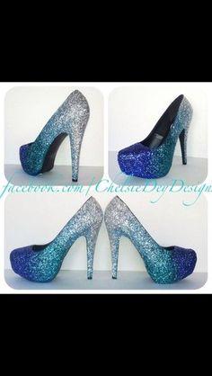 shoes high heels blue glitter heels sparkle