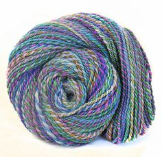 Handspun Yarn handdyed BFL wool Kidmohair silk by FeltStudioUK