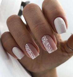 Pin on neutral simple nails May Nails, Pink Nails, Hair And Nails, Wedding Gel Nails, Bride Nails, Fabulous Nails, Perfect Nails, Cute Nails, Pretty Nails