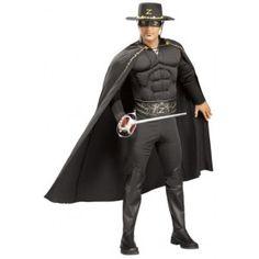 Costume de deguisement zorro™ musclé homme sous licence officielle Zorro Productions™.