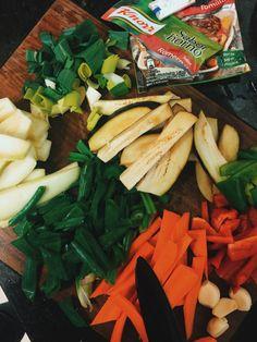 Verduras trozadas