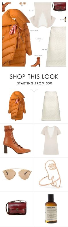 """Bright"" by amberelb ❤ liked on Polyvore featuring Marques'Almeida, Nina Ricci, Christian Dior, Sarah & Sebastian and Le Labo"