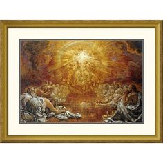 Global Gallery 'The Four and Twenty Elders' by Henry John Stock Framed Painting Print Size: