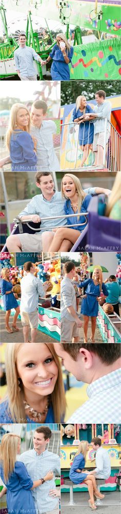 Knoxville Couple Photographer | Fun Engagement Photo Ideas  | Sarah McAffry | Voted Knoxville's Best Photographer | Carnival Fair Session