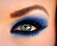 Deep Blue Eye shadow with some glitter x