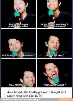 Love Misha and his amazing son! Both so crazy and hilarious!