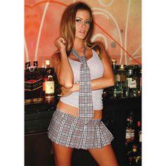 Hustler Women's Reform School Velcro Mini Skirt