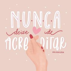frases Vamos acreditar que esse ano vai ser o melhor? Desejo que você tenha muito foc. Should we believe this year will be the best? We wish you to focus on pursuing your dreams in . Inspirational Phrases, Motivational Phrases, Lettering Tutorial, Hand Lettering, Believe, Insta Posts, Tumblr Wallpaper, Texts, Positivity
