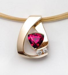 ruby necklace - 14k yellow gold