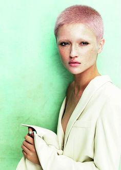 Davines - Short Pink straight hair styles (22085)
