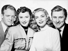 "from l to r: Van Heflin, Barbara Stanwyck, Lizabeth Scott and Kirk Douglas in ""The Strange Love of Martha Ivers"" 1947"