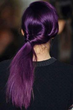 Cabello morado mas formal