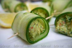 Alkalising Cucumber Guacamole Rolls