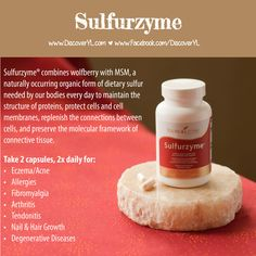 Young Living Essential Oils | Sulfurzyme | Eczema, Acne, Allergies, Fibromyalgia, Pain, MS, Alzheimers, and more! For more info or to order www.EssentialOilsEnhanceHealth.com