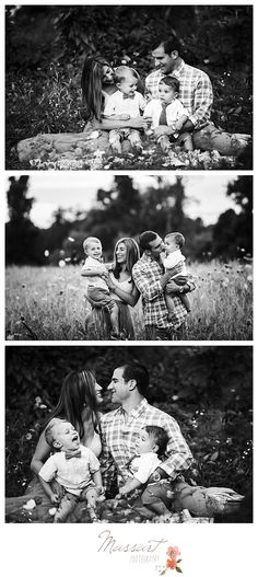 Black and white outdoor family portrait session photographed by Massart Photography, RI, MA CT. | www.massartphotography.com; info@massartphotography.com