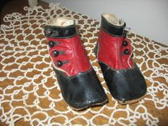 Red and black baby shoes......wonderful!!