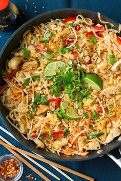 Homemade chicken pad Thai dinner idea