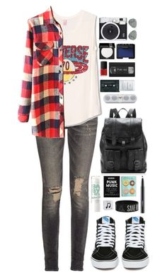 """""""beautifulhalo"""" by ellac9914 ❤ liked on Polyvore featuring R13, Vans, Retrò, Proenza Schouler, MAKE UP FOR EVER, NARS Cosmetics, Ray-Ban, Byredo, Happy Plugs and MAC Cosmetics"""
