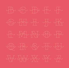 Mousta typeface by Silvia Virgillo, via Behance