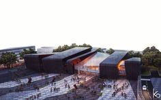 School project, cultural centre in Tirana.