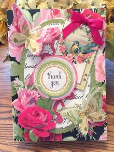 Anna Griffin Rose Collection Thank You Card by Kaye K. Lystad KIrk