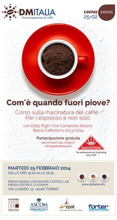 Corso sulla macinatura del caffè con Eddy Righi offerto da Mahlkönig Italia Torino, 25 febbraio 2014