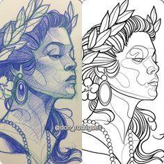 Trendy Ideas For Tattoo Traditional Flash Sketches Drawings Tattoo Sketches, Tattoo Drawings, Drawing Sketches, Art Drawings, Traditional Flash, Neo Traditional Tattoo, Tatoo Art, Body Art Tattoos, Geniale Tattoos