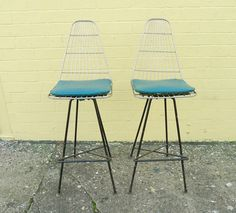 Barstools designed by Framac c.1958. Often incorrectly attributed to Clement Meadmore.
