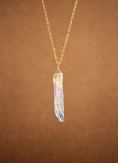 Crystal necklace  angel aura crystal  inner beauty  A by BubuRuby, $22.00