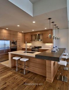 Neat Simple, yet luxurious contemporary kitchen. So many ideas in this picture! | interior design, home decor, luxury kitchen, luxe. The post Simple, yet luxurious cont ..