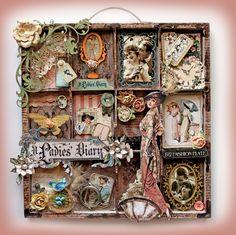#papercrafting #printerstray #mixedmedia  A Ladies Diary Altered Printer Tray **SCRAPS OF ELEGANCE** - Scrapbook.com