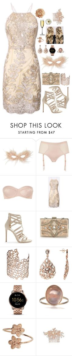 """""""MASKED BALL"""" by fran-peeters ❤ liked on Polyvore featuring Monsoon, L'Agent By Agent Provocateur, Tamara Mellon, Forever Unique, Co.Ro, FOSSIL, Nina and Pier 1 Imports"""
