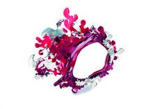 Magali Thibault-Gobeil  _   Corail, 2013,  Bracelet  _   Argent sterling, acrylique