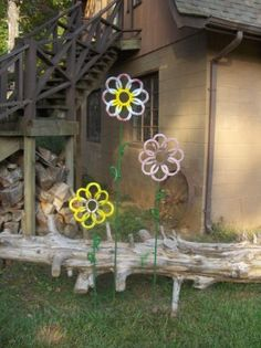 Need to get my son to weld up some of these for yard art