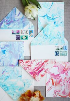 How to create Marbleized Paper with Shaving Cream & Food Coloring!
