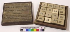 The SUMMER & WINTER PUZZLE. A double sided magic square from 1880s or 1890s. . Magic Squares, Summer Winter, Puzzle, Puzzles, Puzzle Games, Riddles