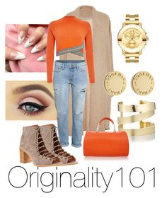 """""""Untitled #79"""" by originality101 on Polyvore featuring Rosetta Getty, River Island, H&M, Jeffrey Campbell, Étoile Isabel Marant, Furla, Movado and Marc by Marc Jacobs"""