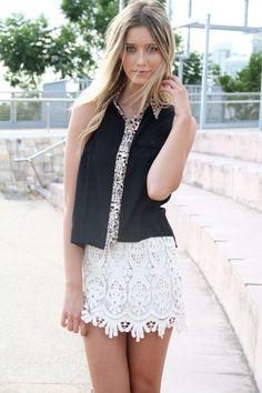 Cute white skirt