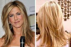 Hair color and style - Jennifer Aniston - Hair Length Medium Hair Styles, Short Hair Styles, Hair Color And Cut, Hair Colour, Hair Affair, Great Hair, Hair Today, Hair Dos, Hair Hacks