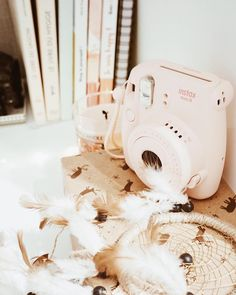 Cocooning - hygge - cosy - Polaroïd rose - attrape rêve #cocooning #cosy #hygge
