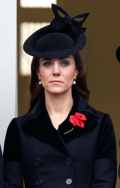 Pin for Later: These Are the Earrings That Kate Middleton Wears With Everything November 2015 Attending the annual Remembrance Sunday Service at the Cenotaph on Whitehall.