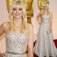 Anna Faris elegant in Zuhair Murad gown at Academy Awards Oscars 2015.