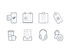 A small selection of icons that we created for a local South African technology…