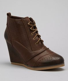 Take a look at this Dark Brown Hailee Bootie by Nature Breeze on #zulily today!