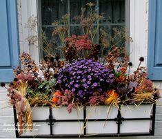 Fall Window Box usin