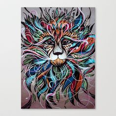 Lion King Stretched Canvas by Lera Razvodova - $85.00