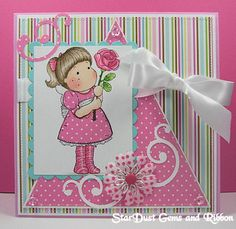 Magnolia PINK TILDA WITH ROSE Rubber Stamp PK08