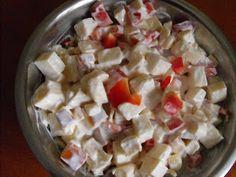 Ildikó receptjei: Sajtsaláta Feta, Potato Salad, Potatoes, Cheese, Ethnic Recipes, Potato